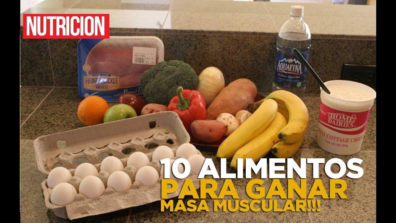 que comer para aumentar masa muscular y perder grasa